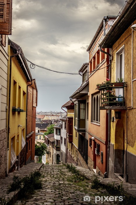 Fototapeta winylowa Starożytna ulica w Budapeszcie - Europa