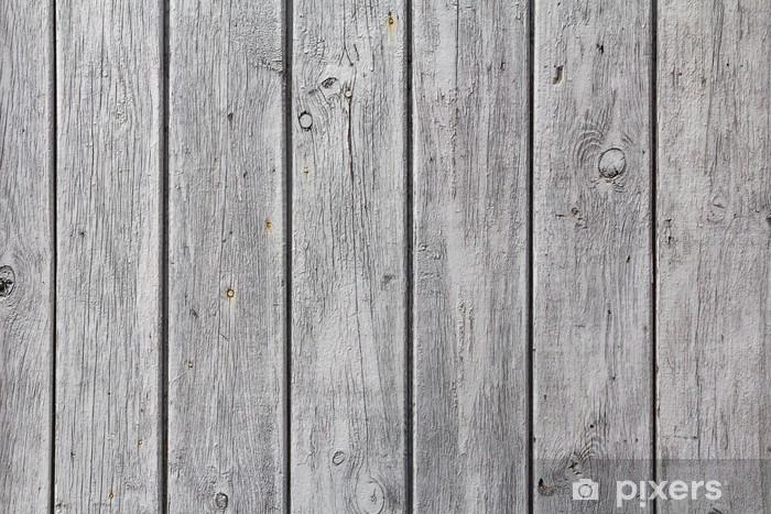 Houten Planken Voor Muur.Fotobehang Vinyl Muur Houten Planken Wit Geschilderd Grijs