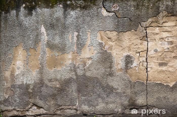 Nálepka Pixerstick Pozadí grunge exteriér stará špinavá zeď - Pozadí