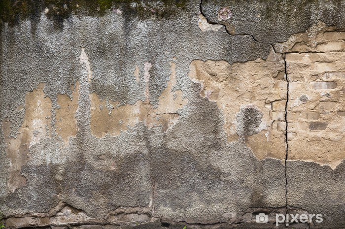 Background grunge exterior old dirty wall Vinyl Wall Mural - Backgrounds