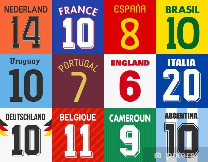 Sticker Pixerstick Maillots de Football - Sports collectifs