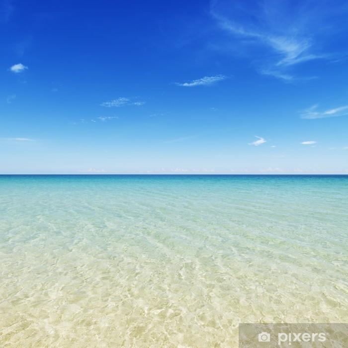 Papier peint vinyle Plage tropicale de l'île avec un ciel parfait. Palawan, aux Philippines, - Vacances