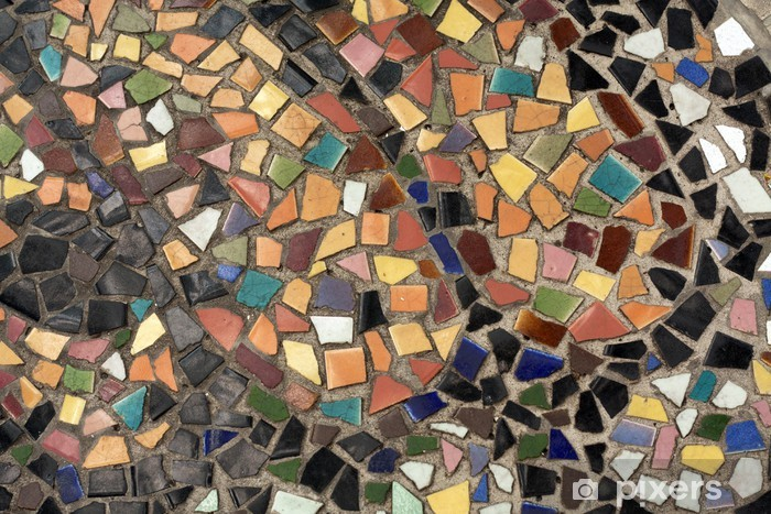 Fotobehang mozaïek op de vloer is oud kleur stijl u pixers we