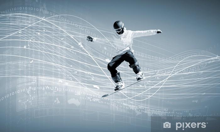 Vinyl Fotobehang Snowboarden - Mannen