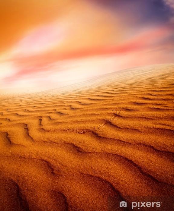 Papier peint vinyle Les dunes de sable au coucher du soleil dans le désert du Sahara - Désert