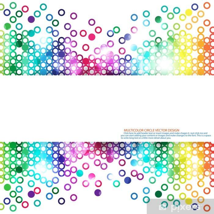Sticker Pixerstick Multicolor résumé historique - Abstrait