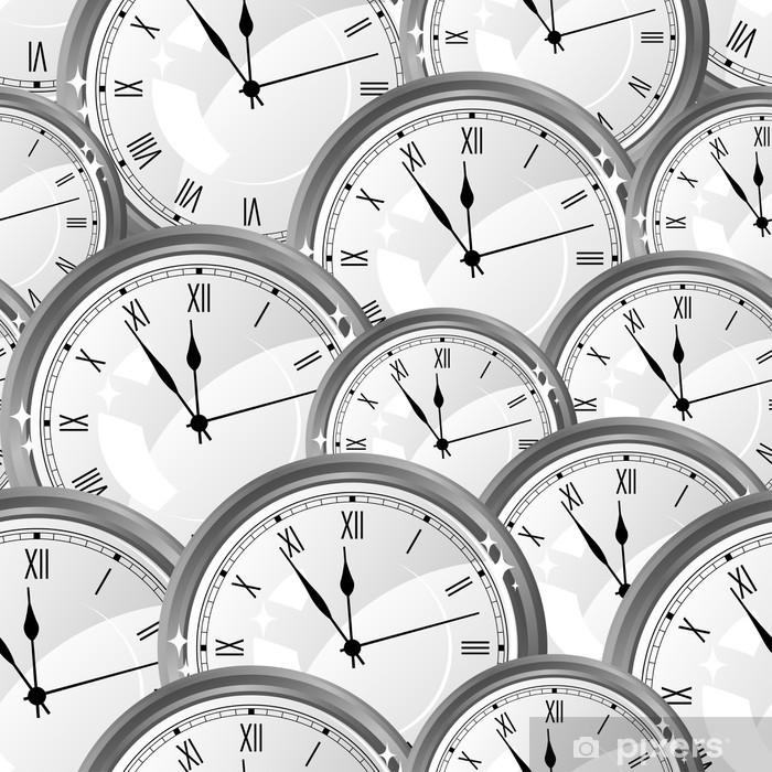 Vinyl Fotobehang Naadloos patroon met horloges. Stijlvolle vector textuur. - Mode