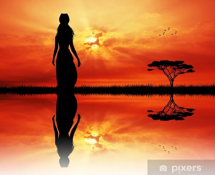 Vinyl Fotobehang Afrikaanse vrouw - Thema's