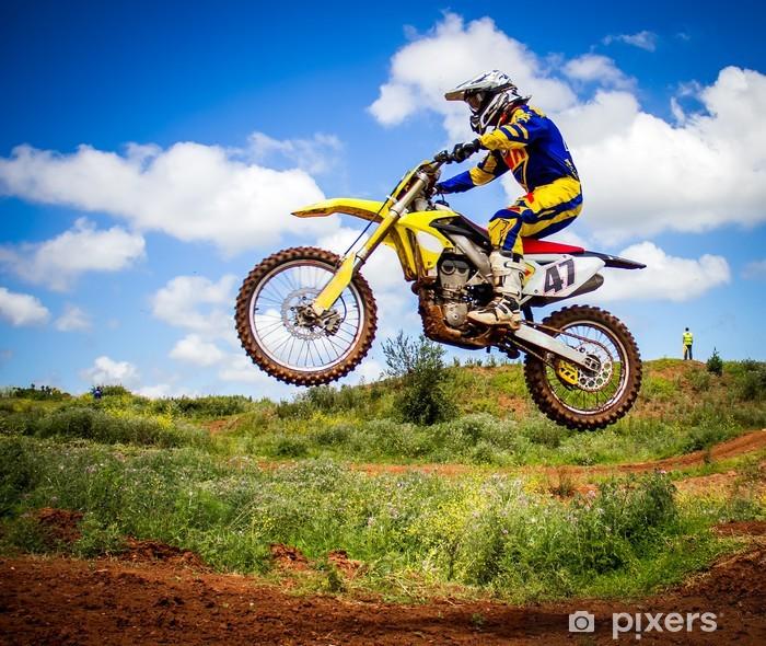 Fototapet av Vinyl Motocross ryttare - iStaging