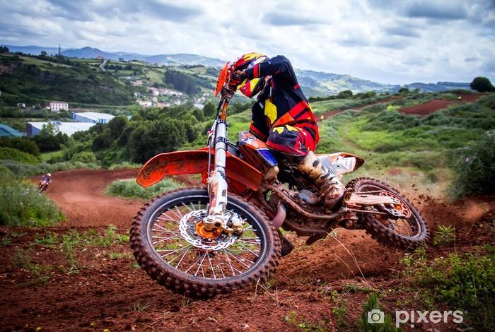 Motocross rider Pixerstick Sticker -