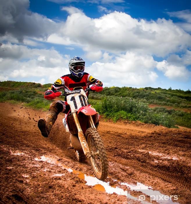 Papier peint vinyle Motocross rider -