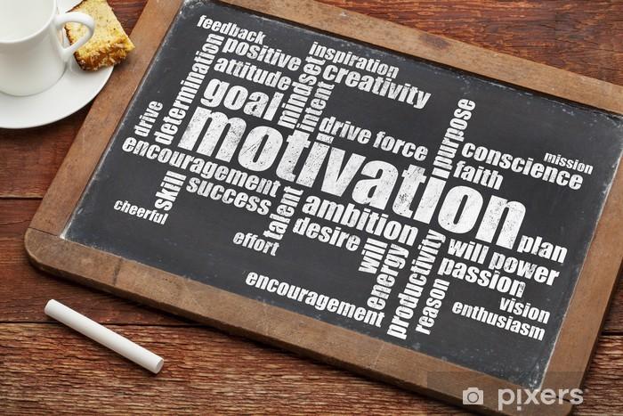 Carta da Parati in Vinile Motivazione word cloud - Concetti di Business