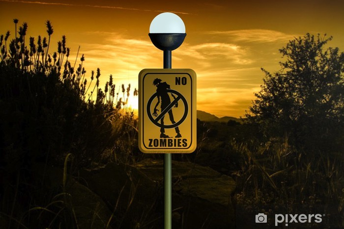 Sticker Pixerstick No Zombies - Thèmes