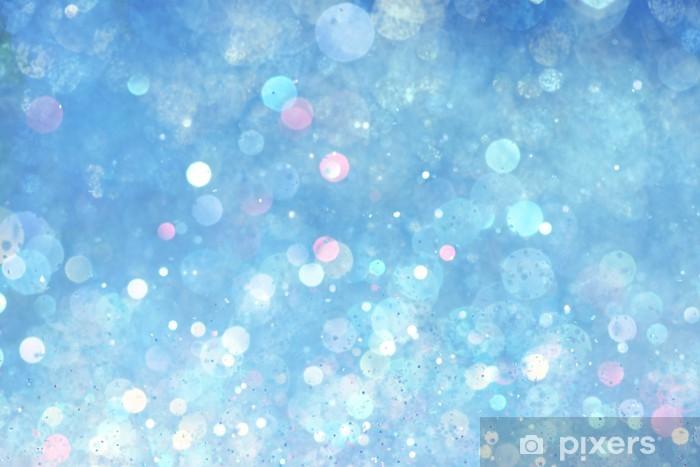 Pixerstick Sticker Blauwe achtergrond verlichting - Abstract