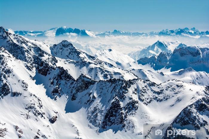 Vinyl-Fototapete Skigebiet Stubaier Gletscher Neustift Österreich - Themen