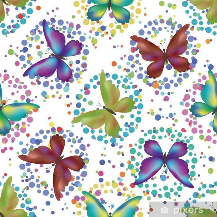 Plakat Jednolite tło, motyle - Cuda natury