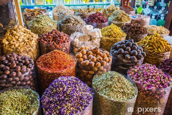 Carta da Parati in Vinile Essiccato erbe fiori spezie nel suq delle spezie a Deira - Temi