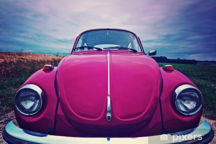 Naklejka na biurko i stół Beetle przednia - kultowy samochód w Niemczech - Transport