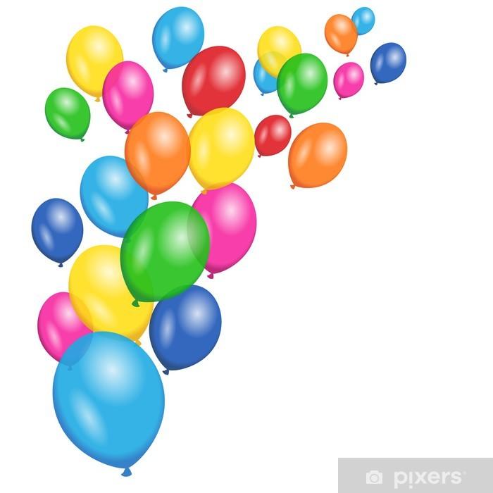 Fototapeta winylowa Kolorowe balony wektor tle - Świętowanie