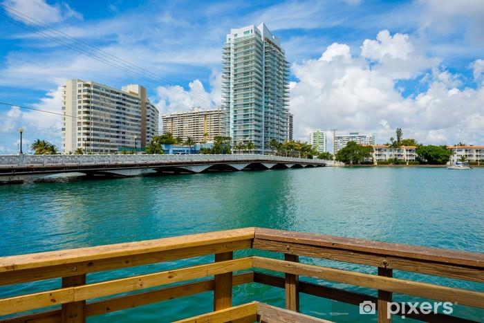 Nálepka Pixerstick Pláž v Miami - Severní Amerika