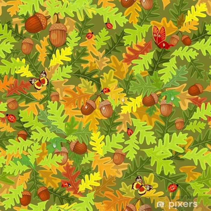 Vinyl-Fototapete Herbst nahtlose Textur - Jahreszeiten