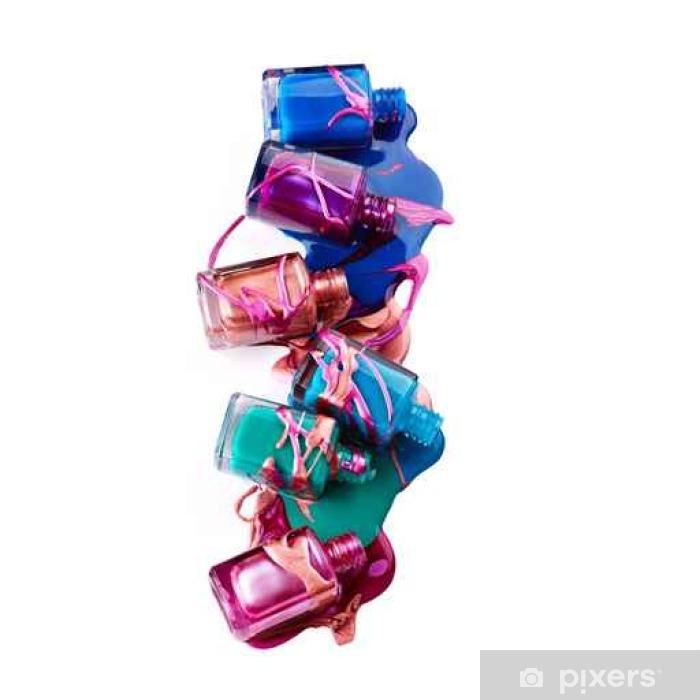 Nálepka Pixerstick Láhve s rozlitým lak na nehty - Životní styl