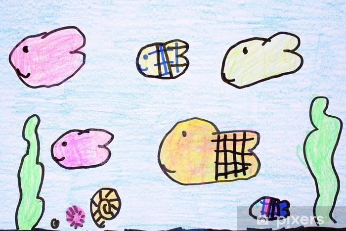 Akvaryum Mum Boya çizimi Duvar Resmi Pixers Haydi Dünyanızı