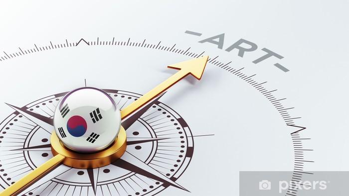 Naklejka Pixerstick Korea Południowa Compass Concept - Znaki i symbole