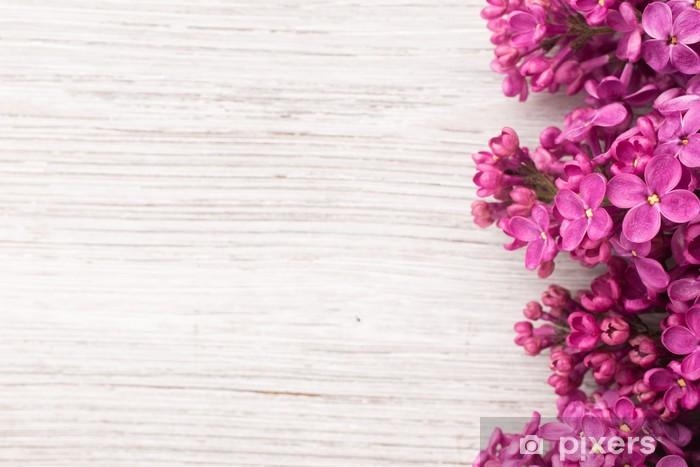 Sticker Pixerstick Lilas - Fleurs