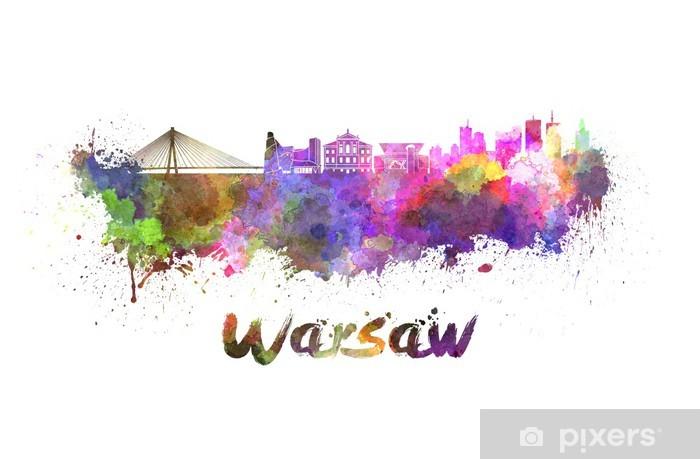 Fototapeta winylowa Warszawa skyline w akwareli - Tematy