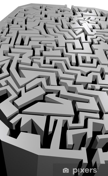 Papier peint vinyle Labyrinthe gris - Autres sentiments