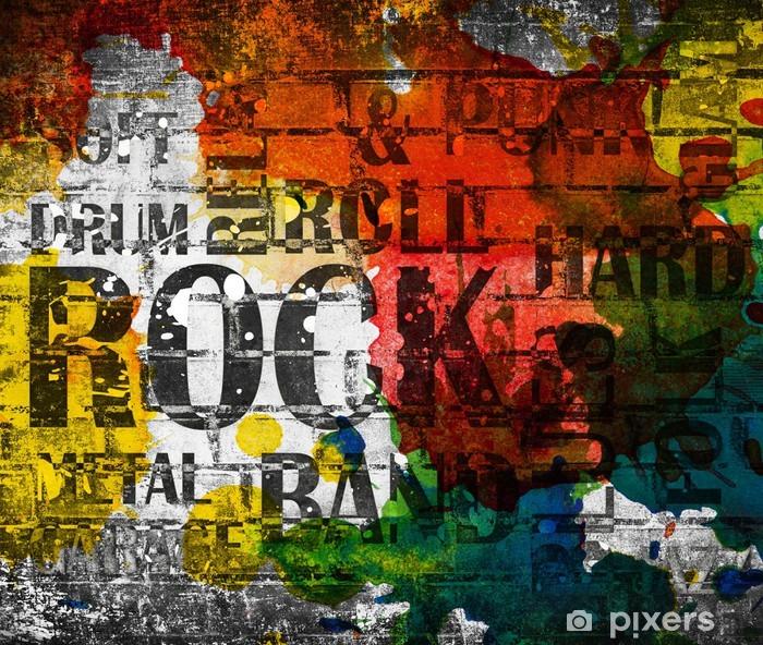Grunge rock music poster Vinyl Wall Mural - Rock