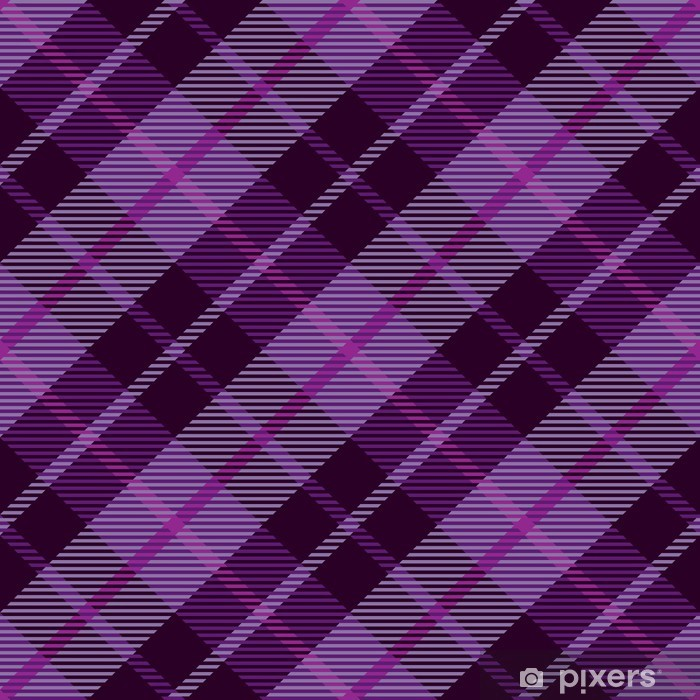 Purple Plaid Tartan Seamless Pattern Background Wall Mural