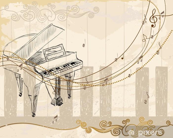 Papier peint vinyle Fond Musical - Musique