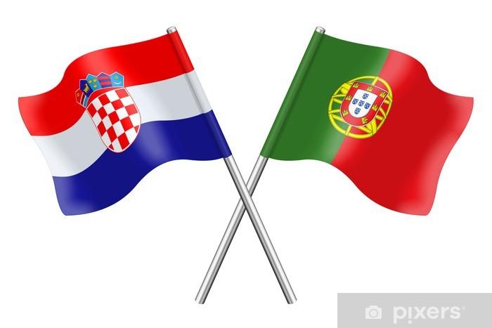 Naklejka Pixerstick Flagi: Chorwacja i Portugalia - Życie