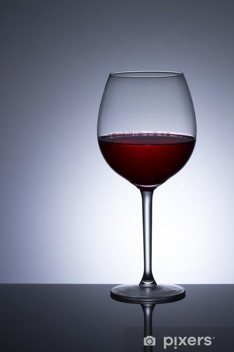Sticker pour frigo Vin rouge dans le verre