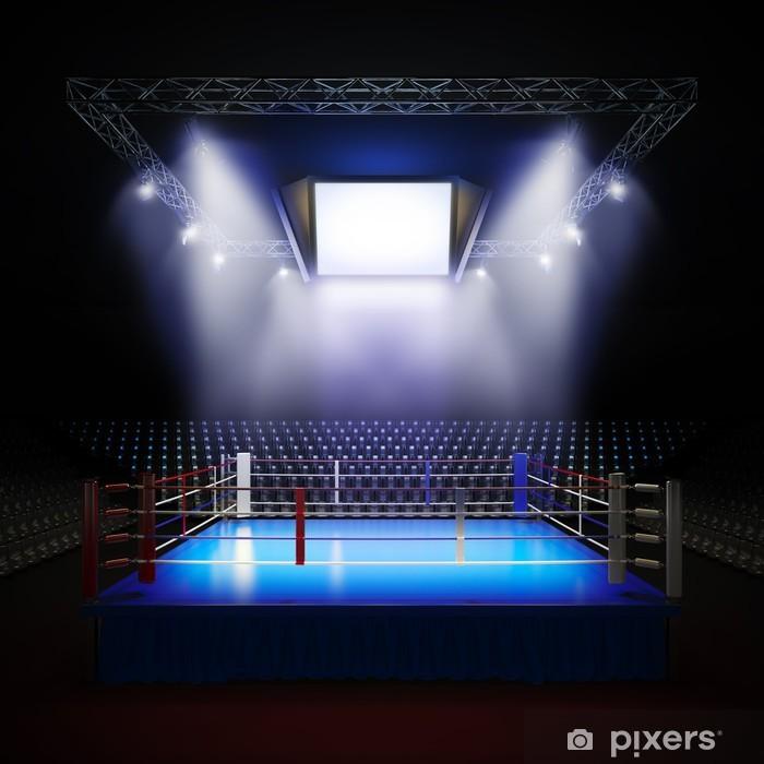 Pixerstick Aufkleber Leere professionellen Boxring. - Themen