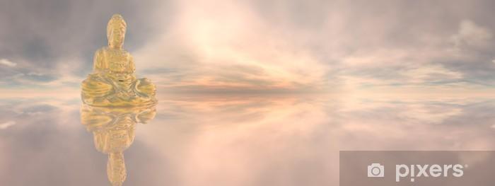 Fototapeta winylowa Złoty Budda, 360 stopni efekt - 3d render - Buddyzm
