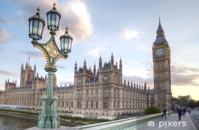 Papier Peint Autocollant Big Ben et de la Chambre du Parlement de nuit - Thèmes