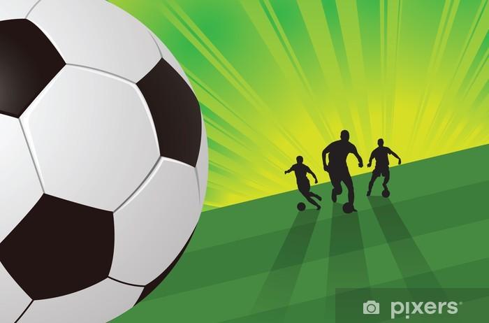 Fotomural Jugador de fútbol en fondo color verde • Pixers® - Vivimos ... c20a78ac4738f
