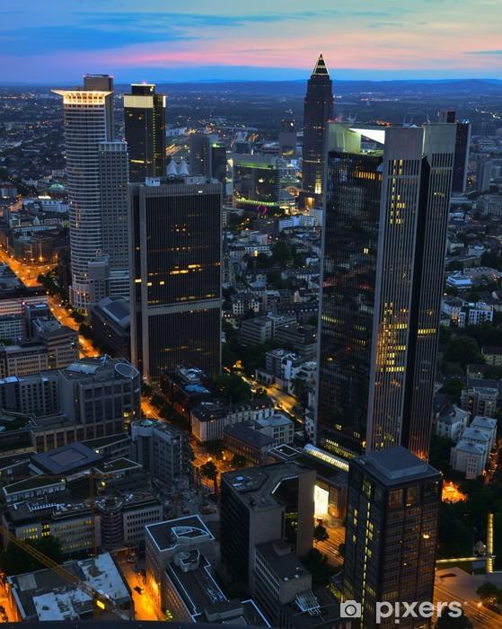 Fotomural Estándar Skyycrapers Frankfurt - Finanzas