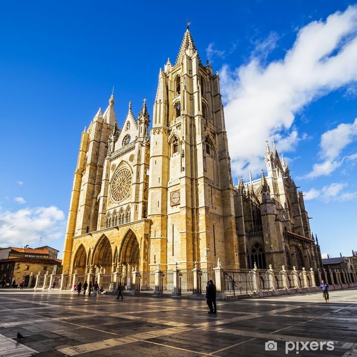 Fototapeta winylowa Gotycka katedra w Leon, Kastylia Leon, Hiszpania - Wakacje