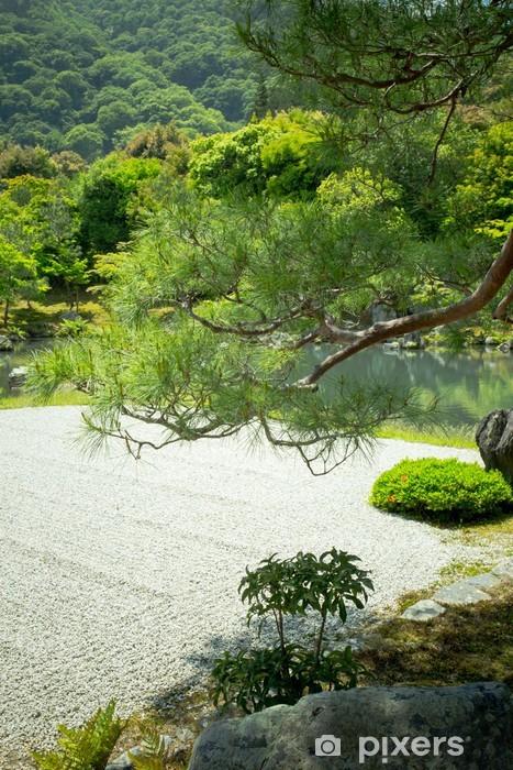 Japanese Garden, View Of Japanese Stone Garden, Japan Vinyl Wall Mural    Asia