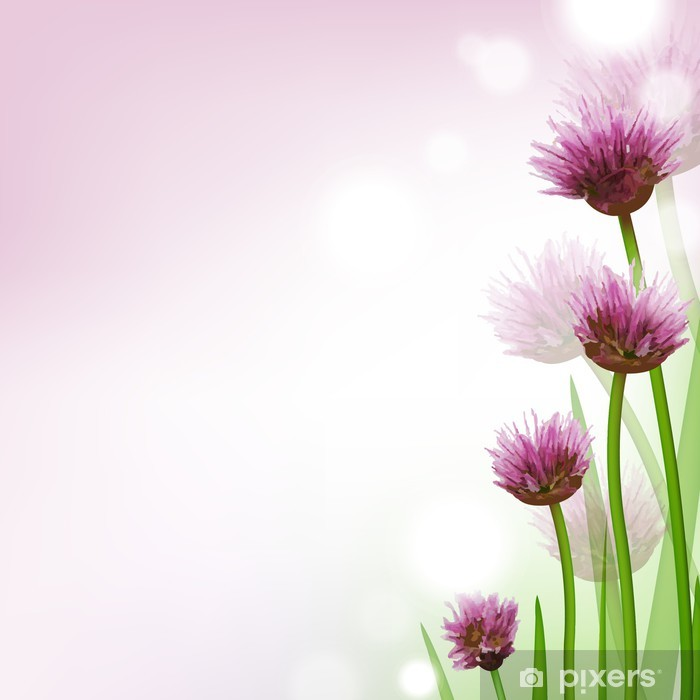 kort med blommor
