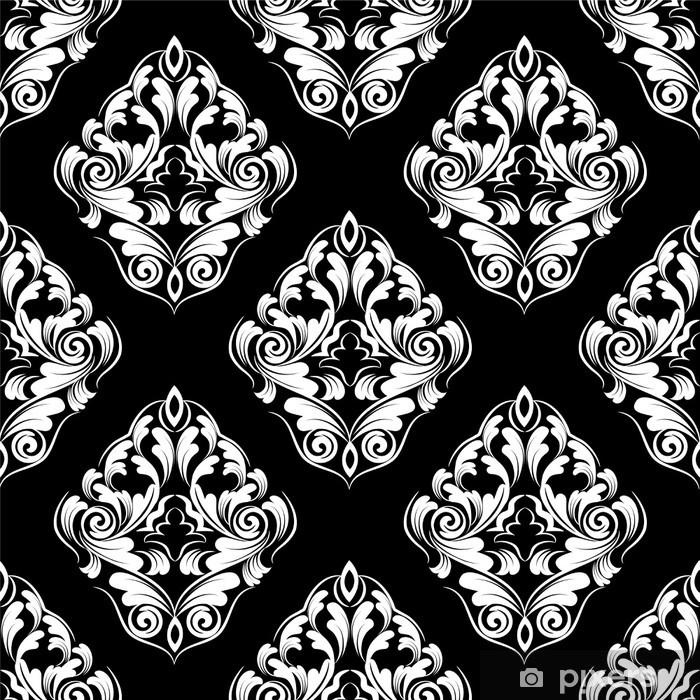 Plakat Powtarzalny tapety. adamaszku. kwiat tle - Tła