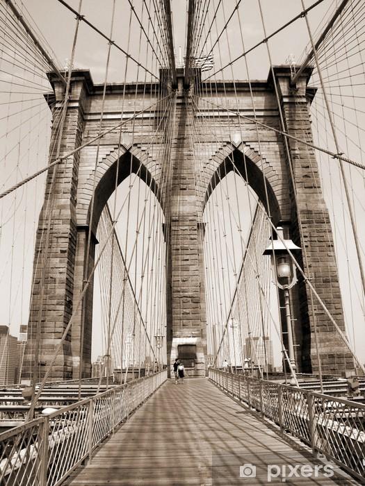 Sticker Pixerstick Le pont de Brooklyn - Styles