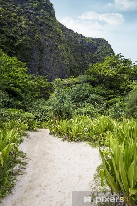 Papier peint vinyle Le chemin de la plage maya - Asie