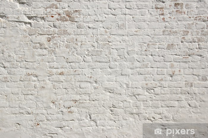Fotomural Estándar Blanco grunge ladrillo la pared de fondo - Estilos