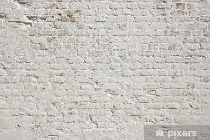 White grunge brick wall background Pixerstick Sticker - Styles