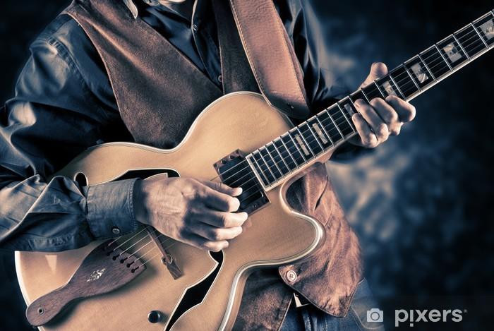 Vinyl Fotobehang Afbeelding gitarist vintage - Thema's